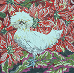 BR096 Barbara Russell Polish Crested Fowl