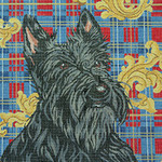 BR077 Barbara Russell Scottie On Plaid