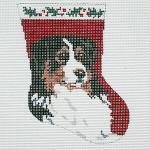 BR093 Barbara Russell Ornament Bernese Mountain Dog Sock