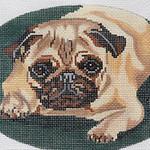 BR097 Barbara Russell Pug Oval