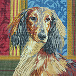 BR183 Barbara Russell Long Haired Dachshund