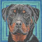 BR205 Barbara Russell Rottweiler Head