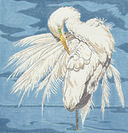 BR196 Barbara Russell Large Egret