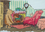BR232 Barbara Russell Pooh And Piglet In Living Room