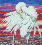 BR197 Barbara Russell Large Egret