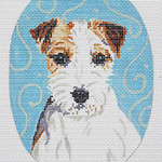 BR241 Barbara Russell Jack Russell Oval