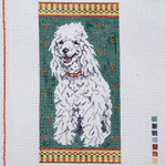 """BR208 Barbara Russell White Poodle Eyeglass 3.5 x 7"""""""