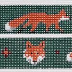 BR269 Barbara Russell Fox Dog Collar 1 x 12