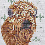 BR284 Barbara Russell Soft Coated Wheaten Terrier Oval