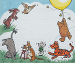 BR281 Barbara Russell Pooh Birth Sampler 10 x 12