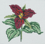 BR345 Barbara Russell Wildflower Coaster Dutchman's Breeches