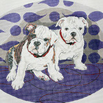 BR355 Barbara Russell Crystal And Capone The Bulldog Pups