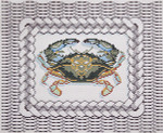 BR379 Barbara Russell Crab On Wicker Basket