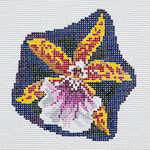BR376 Barbara Russell Miltonia Orchid Pin