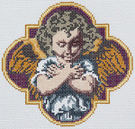 BR371 Barbara Russell Angel I Ornament