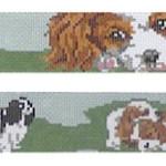 BR442 Barbara Russell King Charles Dog Collar