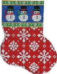 CT-1055 Snowman Cuff/Flakes Mini Sock Associated Talents