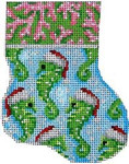 CT-1033 Coral/Seahorse Mini Sock Associated Talents