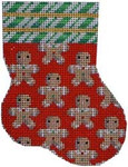 CT-1051 Gingerbread Boys Mini Stocking Associated Talents