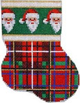 CT-1056 Santas Cuff/Plaid Mini Sock Associated Talents