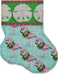 CT-1035 Sand Dollar/Flamingo Mini Sock Associated Talents