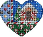 CT-1234 Gingerbread House Heart Orna. Associated Talents