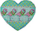CT-1247 Flamingo Heart Ornament Associated Talents