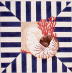 D-0712 Shell/Coral Stripes Associated Talents