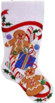 CS-213 Gingerbread Stocking Red Bow Associated Talents