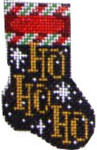 CT-1082 Ho Ho Ho Micro Mini Stocking Associated Talents