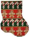 CT-1057 Candy Canes/Gingerbread Mini Sock Associated Talents