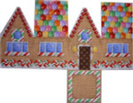 HH-123 Gingerbread Cottage-Gumdrop Roof Associated Talents