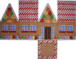 HH-124 Gingerbread Cottage /Cane Roof Associated Talents