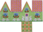 HH-103 Easter Cottage-Pink Lattice Roof Associated Talents