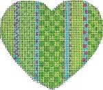 HE-804 Vertical Lime Patterns Heart Associated Talents