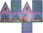 HH-101 Easter Cottage-Blue Lattice Roof Associated Talents