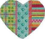 HE-809 Plaid/Coin Dot/Stripes Heart Associated Talents