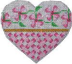 HE-814 Pink Floral/Lattice Heart Associated Talents