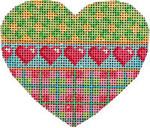 HE-819 Turq. Pin Dots/Plaid/Hearts Heart Associated Talents