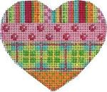 HE-805 Stripes/Coin/Dots Plaid Heart Associated Talents