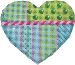 HE-810 Lime/Turquoise Heart Associated Talents