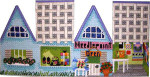 HH-250 Needlepoint Shop Cottage Associated Talents
