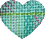 HE-806 Turquoise Patterns Heart Associated Talents