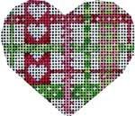HE-629 Pink/Green Woven Ribbon Mini Heart Associated Talents
