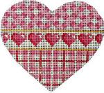 HE-811 Pink Lattice/Hearts/Plaid Heart Associated Talents
