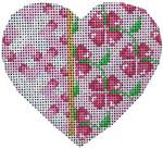 HE-816 Pink Fretwork/Floral Heart Associated Talents