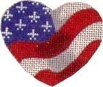 HE-621 Associated Talents Flag Heart