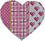 HE-812 Pink Pindot/Plaid/Hearts Heart Associated Talents