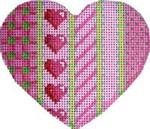 HE-802 Vertical Pink Patterns Heart Associated Talents