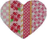 HE-817 Pink Vertical Patterns Heart Associated Talents